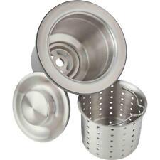 Elkay 3.5 in. Kitchen Sink Drain with Deep Strainer Basket and Brass Tailpiece
