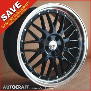 """18"""" LM BLACK Style ALLOY WHEELS + TYRES - VW GOLF / CADDY / TRANSPORTER T4"""