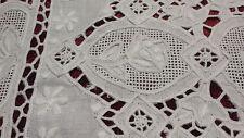 1 sehr feines, weißes  spitzendeckchen , Nadelspitze,  25 x 37 cm
