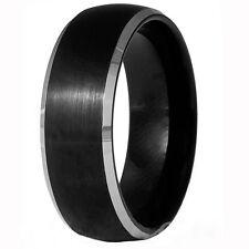 Tungsten Carbide Black Brushed 8MM Mens Ring Wedding Band Wedding Ring M55
