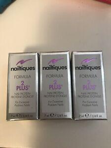nailtiques formula 2 plus (Set Of 3) 0.25 Oz Each NEW (International Available)