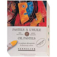 Sennelier 6 Assorted Artists Oil Pastel Box Set. Artists Colour Oil Pastel Set.