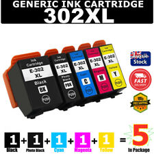 5x Generic 302 302XL Ink Cartridge For Epson Expression XP6000 XP6100 XP 6000