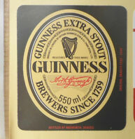 BRITISH VINTAGE BEER LABEL - NORTHGATE BREWERY, DEVIZES. GUINNESS EXTRA STOUT