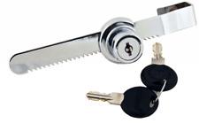 Glass Sliding Door Ratchet Lock Chrome For Cabinet Display Trophy Retail Cases