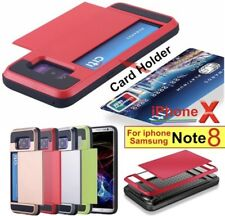 ShockProof Card pocket Hybrid wallet Bumper case covers for SAMSUNG S7 S8 S8PLUS