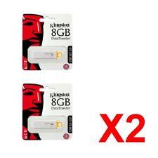 2x Kingston 8GB 8 GB DataTraveler DTI G4 USB 3.0 Flash Drive Stick Speicher
