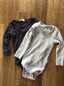 Jamie Kay Bodysuits x 2, Size 6-12 Months