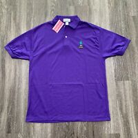 VINTAGE Polo Shirt Mens Large Purple Crayola 90s Made in USA Sample NEW