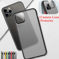 For Apple iPhone 11 Pro Max Camera Lens Protector Soft Bumper PC Phone Back Case