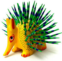 Porcupine Alebrije Oaxacan Wood Carving Hand Painted