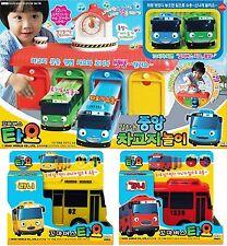 """Little Bus TAYO """"Main Garage play set + Rani Gani Full set_4 buses"""" Talking Toy"""