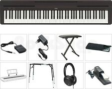 Yamaha Digitalpiano P-45 Black schwarz P45-B portables E-Piano Komplett SET NEU