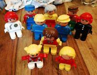 10 VINTAGE LEGO DUPLO FIGURES NICE CONDITION RACE CAR TRAIN GRANDMA KIDS NICE