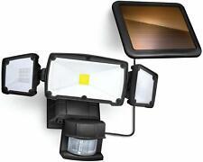 Home Zone Security Motion Sensor Light Solar Powered 6000K 1500lmn.Blk.Es00871V
