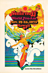 Smirnoff World Pro-Am Surfing 1973 100cm x 65cm Art Paper or Canvas Print