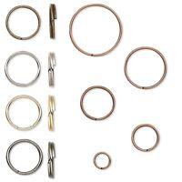 100 Plated Steel Round Split Rings Small -Big Splitring Keyring Jewelry Findings
