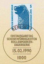 Berlin 1990: Braunschweiger Löwe Nr. 863 mit sauberem Ersttagssonderstempel! 1A