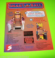 SMART BALL By SMART ORIG NOS BALL TOSS REDEMPTION GAME MACHINE SALES FLYER #2