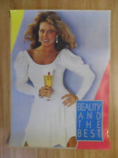 Sexy Girl Beer Poster Michelob ~ Beauty and the Best Blonde in White Dress
