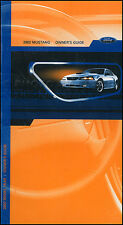 2002 Ford Mustang Owners Manual NEW Original OEM Owner Guide Book GT