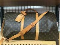 Louis Vuitton LV M41416 Boston Travel Bag Keepall Bandouliere 50 W/ Strap Used