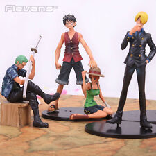 ONE PIECE - SET 4 FIGURAS / LUFFY, ZORO, SANJI & NAMI / 4 FIGURES SET 9-17cm