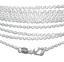 "CN433 Rolo Link 1.2mm Silver-Plate 16"" Chain Necklace with Lobster Clasp"