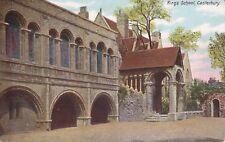 CANTERBURY - KINGS SCHOOL COLOUR  POSTCARD