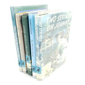 Lot of 5 Vintage Matt Christopher Books Hardcover Sports