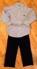 POLO Ralph Lauren Chaps  Boys Sz. 4, 4T Navy Cords & Button Down  Shirt