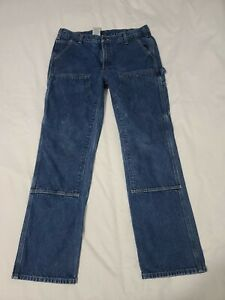 Carhartt Double Knee Relaxed Fit Logger Denim Work Jeans Size 38 X 34 - M7002
