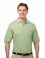 Tri-Mountain Men's Short Sleeve 100% Cotton 3 Button Placket Polo T-Shirt. 188