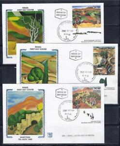 ISRAEL 1982 STAMPS ISRAELI ART PAINTING 3 SPECIAL FDC