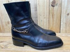 Cesare Paciotti Black Leather Ankle Strap Silver Mens Size Uk 10 / USA 11