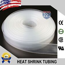 "5 FT. 5' Feet CLEAR 3/16"" IN 5mm Polyolefin 2:1 Heat Shrink Tubing Tube Cable US"