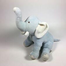 "My Natural Bamboo STUFFED PLUSH Animal Blue Elephant toy 14"" long"