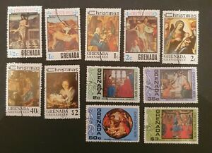 Grenada postage stamps x11.   Mixed