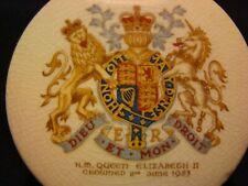 H.M.Queen Elizabeth II Crowned 1953 - Sandland Ware Hanley England Lidded Jar