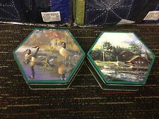 HEXAGON TINS ~ 1998 OLIVE CAN COMPANY ~ TERRY REDLIN and DARRELL BUSH