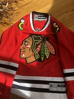 Reebok Authentic Chicago Blackhawks Red Jersey Official NHL Size Men M No player