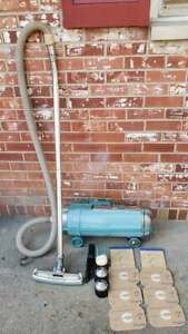 Vintage Electrolux Automatic Vacuum Cleaner Turquoise Blue With Attachments