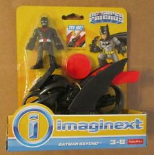 IMAGINEXT DC Super Friends BATMAN BEYOND & MOTORCYCLE GLIDER ~ Fisher-Price