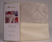 New Monmartre Luxury Jacquard Hem Queen Sheet Set - Ivory