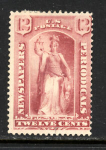 SCOTT PR16 1875 12 CENT NEWSPAPER ISSUE MH OG VG CAT $250!