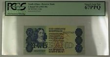 (1983-90) No Date South Africa 2 Rand Bank Note SCWPM# 118d PCGS GEM 67 PPQ