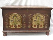 Antique American Pennsylvania Dutch Painted Blanket  Chest c1820