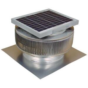 Active Ventilation Attic Fan Solar Powered 740 CFM Round Aerodynamic Aluminum
