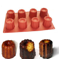 Jello Gelatin Cake Baking Pan Ice Cream Canneles Silicone Mold 8-Cavity Supplies