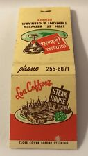 Old Matchbook Lou Coffee's Steak House Denver CO